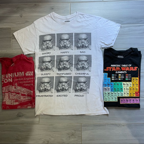 Star Wars T Shirt Lot Mens S & M